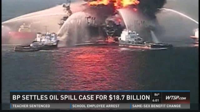 BP settles oil spill case for $18.7 billion