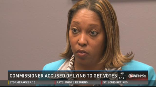 Commissioner accused of lying to get votes