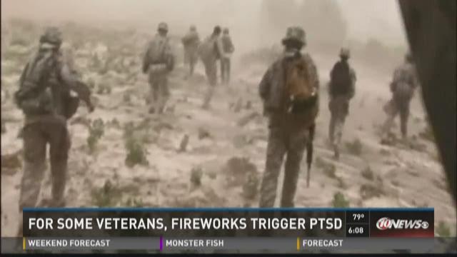 For some veterans, fireworks trigger PTSD