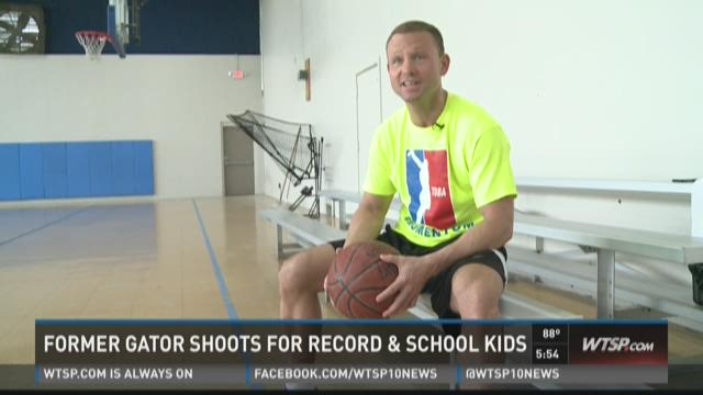 Former Florida star hits 3-pointers for school