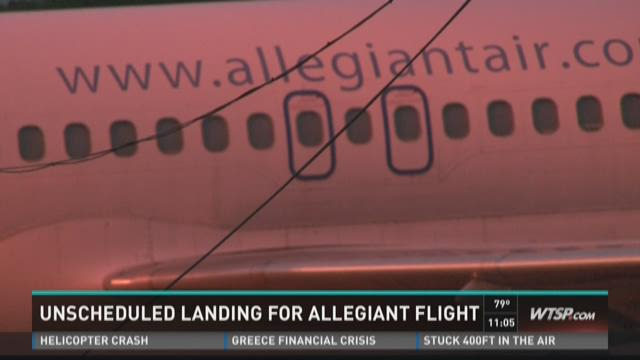 Unscheduled landing for Allegiant flight