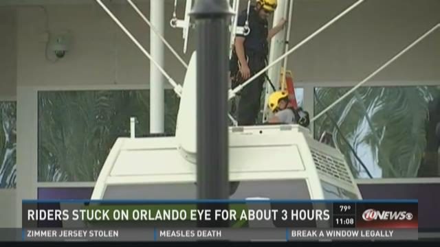 Riders stuck on Orlando Eye for about 3 hours