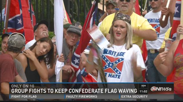 Group fights to keep confederate flag waving