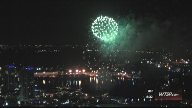 Fireworks launched over Channelside in Tampa
