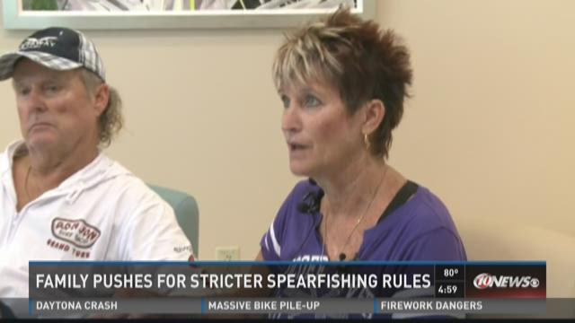 Family pushes for stricter spearfishing rules