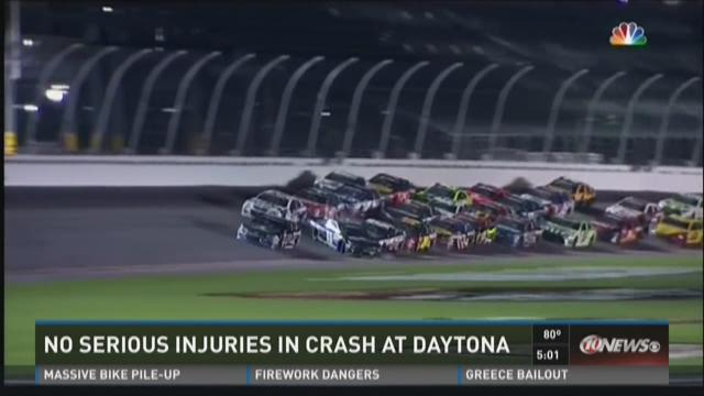 No serious injuries in crash at Daytona