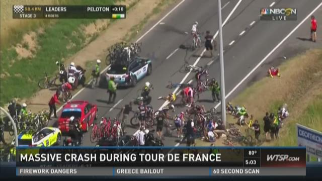 Massive crash during Tour de France