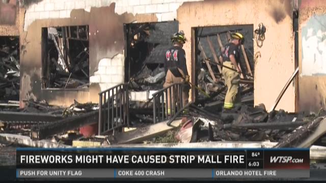 Fireworks might have caused Largo strip mall fire