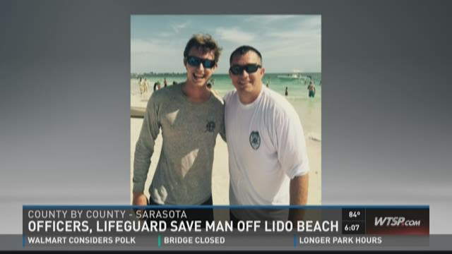Officers, lifeguard save man off Lido Beach