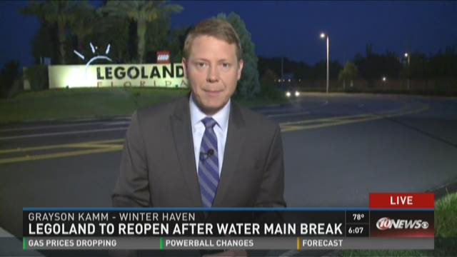 Legoland to reopen after water main break
