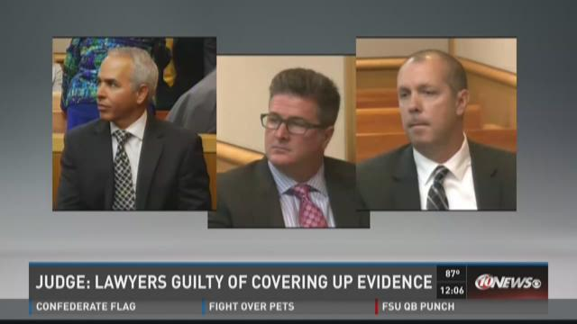 Judge: Lawyers guilty of covering up evidence
