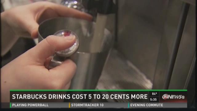 Starbucks drinks to cost more