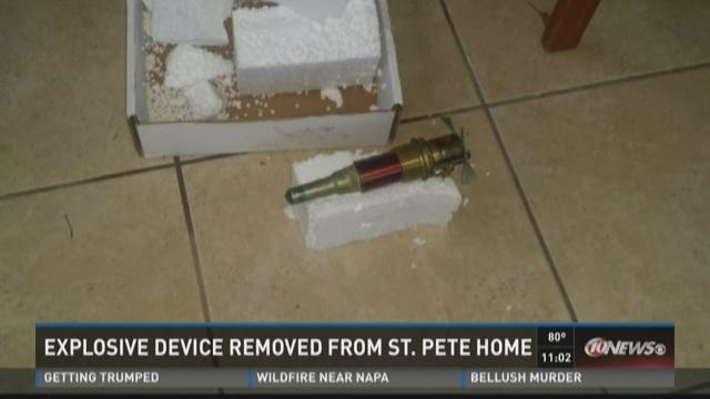 WWII explosive device removed from  home