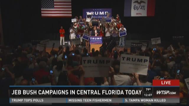 Jeb Bush campaigns in central Florida today