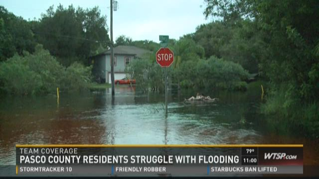 Floodwater evicts Pasco homeowners