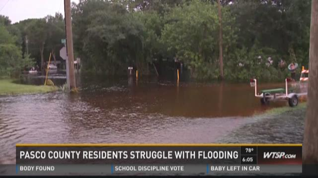 Pasco County residents struggle with flooding