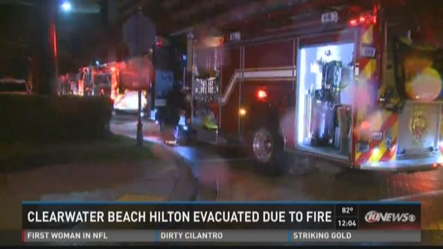 Clearwater Beach Hilton evacuated due to fire
