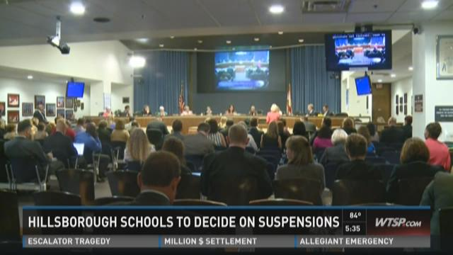 Hillsborough Schools to decide on suspensions