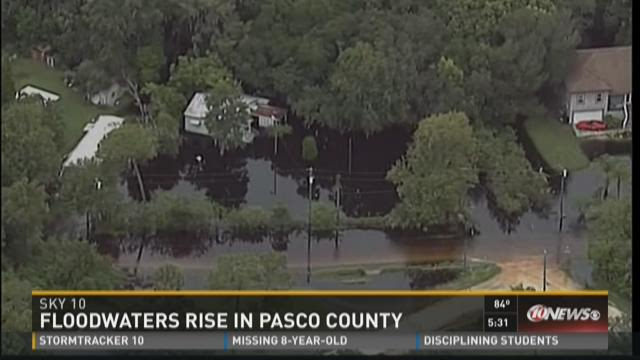 Floodwaters rise in Pasco County