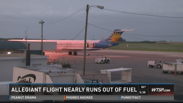 Allegiant flight nearly runs out of fuel