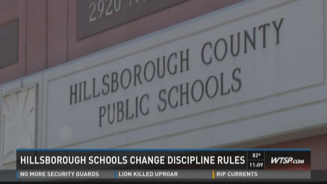 Hillsborough schools change discipline rules