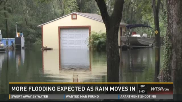 More flooding expected as rain moves in