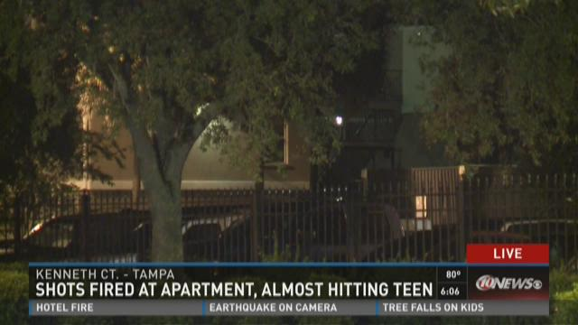 Shots fired at apartment, almost hitting teen