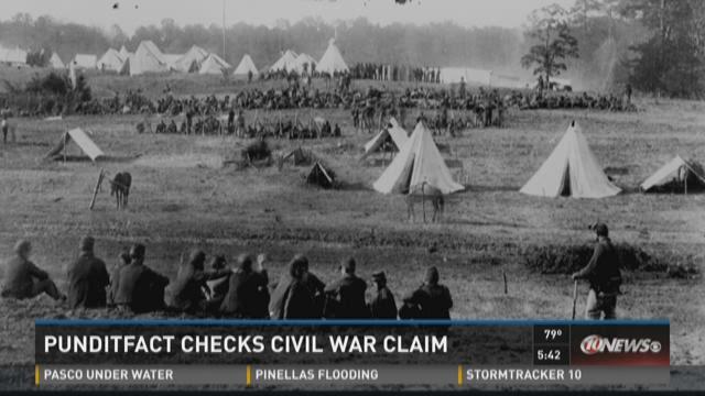 Punditfact checks slaveholders  fighting with Union
