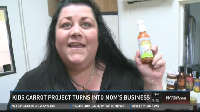 Kids' carrot project becomes mom's sauce business