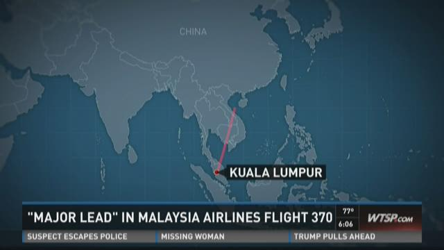 """""""Major lead"""" in Malaysia Airlines Flight 370"""