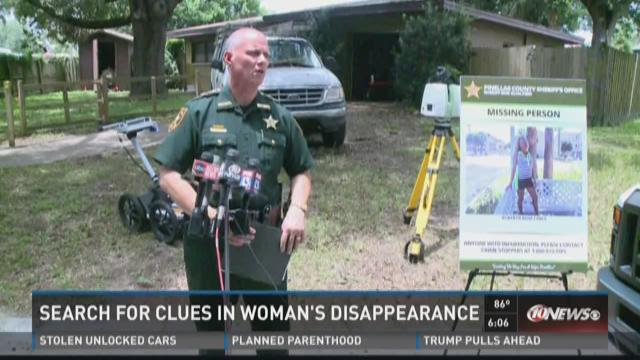 Search for clues in woman's disappearance