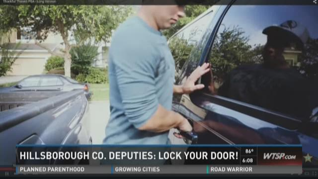 Hillsborough deputies: Lock your doors!