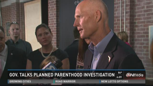 Gov. Scott talks Planned Parenthood investigation