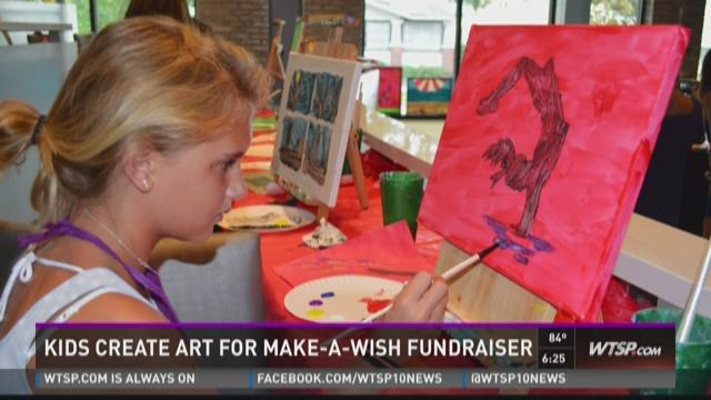 Kids create art for Make-A-Wish fundraiser
