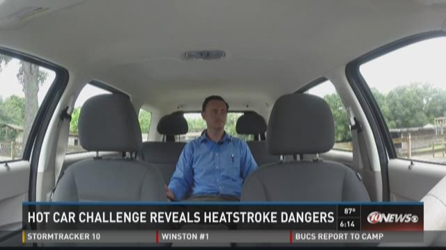Hot car challenge reveals heatstroke dangers