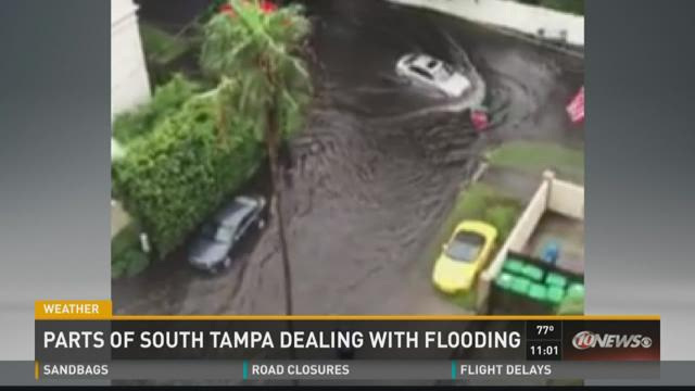 Heavy rain stalls Tampa traffic
