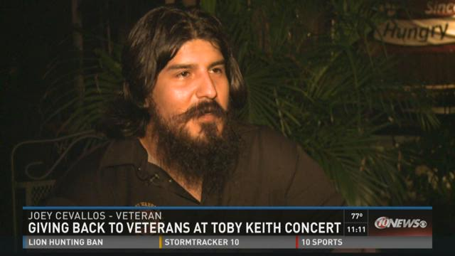 Veteran gets free house at Keith concert