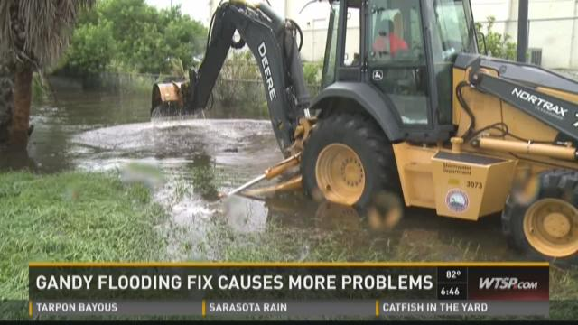 Gandy flooding fix causes more problems