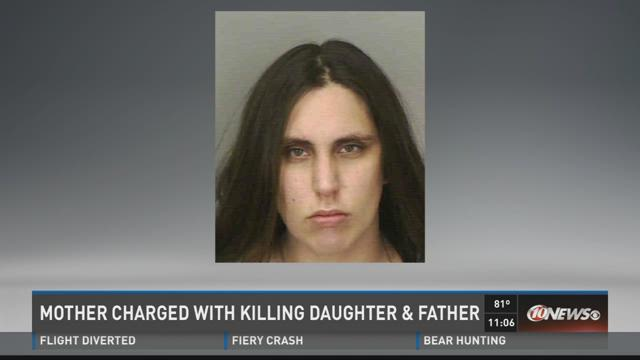 Mother charged with killing daughter & father