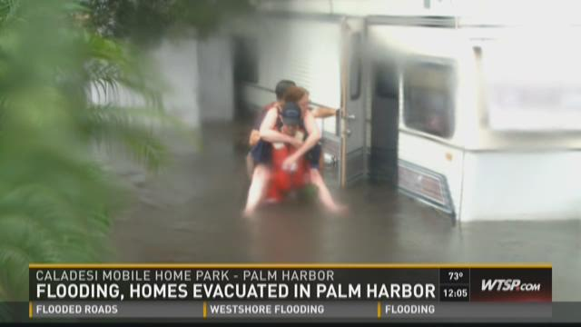 Flooding, homes evacuated in Palm Harbor