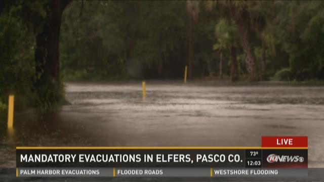 Mandatory evacuations in Elfers, Pasco Co.