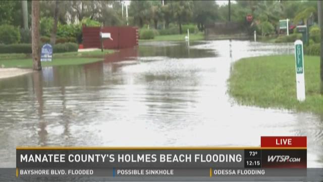 Manatee County's Holmes Beach flooding