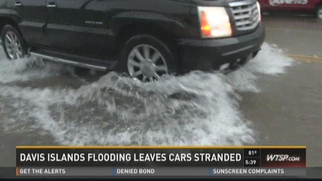 Flood stalls Davis Islands commuters