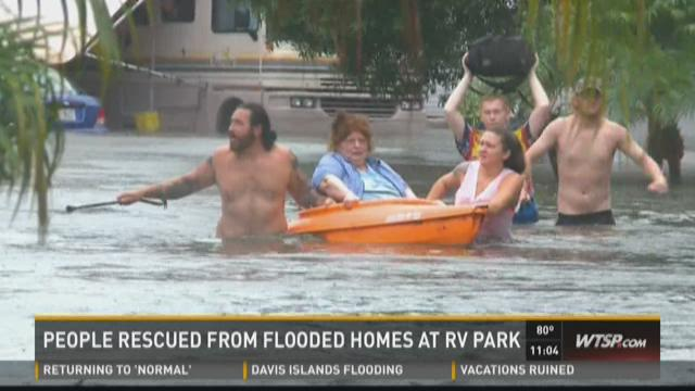 Pinellas RV parks hit hard by floods