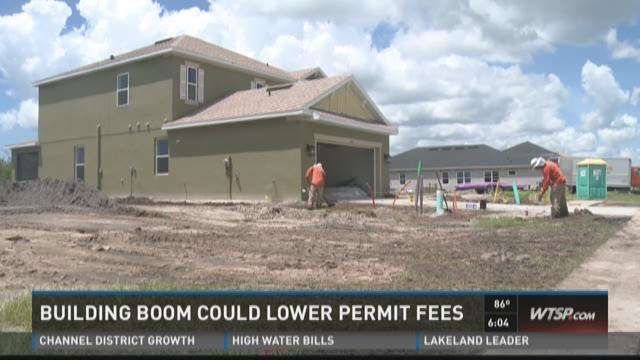 Building boom could lower permit fees
