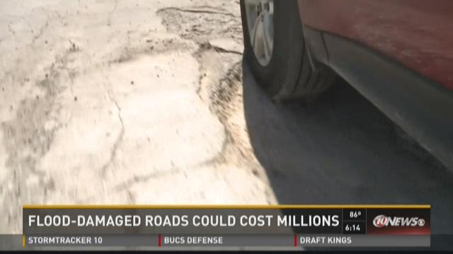 Flood-damaged roads could cost millions