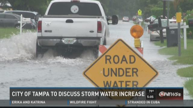 City of Tampa to discuss storm water increase