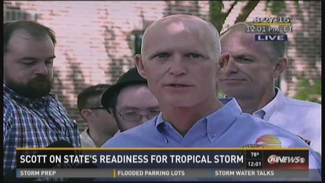 Scott on state's readiness for Tropical Storm