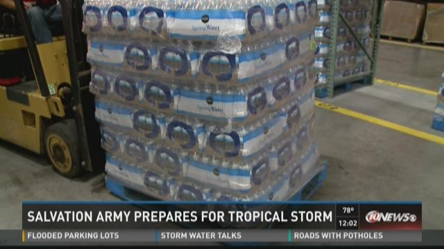 Salvation Army prepares for Tropical Storm