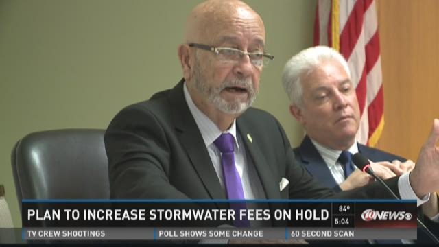 Plan to increase stormwater fees on hold